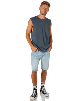 FADED MARINE MENS CLOTHING THRILLS SINGLETS - TS8-137EFDMRN