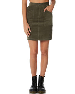 OLIVE WOMENS CLOTHING AFENDS SKIRTS - W182902OLIVE