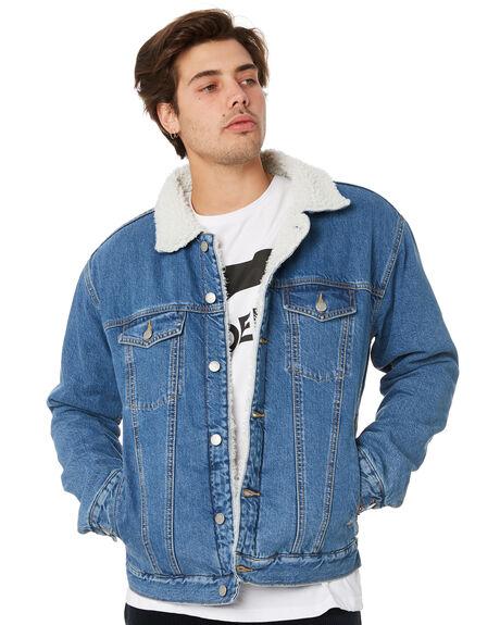 ROADRUNNER MID BLUE MENS CLOTHING DR DENIM JACKETS - 1931101I11MDBLU