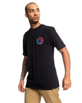 BLACK MENS CLOTHING DC SHOES TEES - UDYZT03666-KVJ0