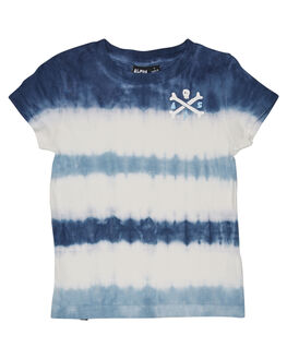 BLUE STRIPE TIE DYE KIDS TODDLER BOYS ALPHABET SOUP TOPS - AS-KTC8228BLUST