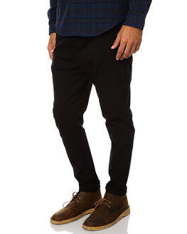 BLACK MENS CLOTHING ACADEMY BRAND PANTS - 17W112BLK