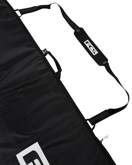 STEEL BLACK WHITE BOARDSPORTS SURF FCS BOARDCOVERS - BCL-FB-BKWSBLKW