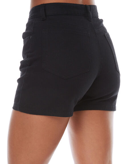 BLACK WOMENS CLOTHING AFENDS SHORTS - 52-01-054BLK