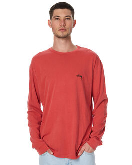 PIGMENT RED MENS CLOTHING STUSSY TEES - ST077001PRED