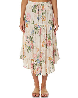 DELILAH NATURAL WOMENS CLOTHING AUGUSTE SKIRTS - AUG-HN1-17129DBN