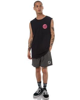 BLACK MENS CLOTHING SANTA CRUZ SINGLETS - SC-MTD7683BLK