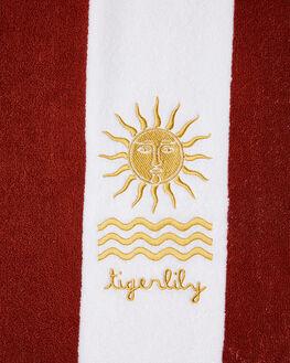 INDIGO WHITE WOMENS ACCESSORIES TIGERLILY TOWELS - T482894IND