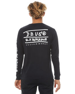 BLACK MENS CLOTHING DEUS EX MACHINA TEES - DMF71838ABLK