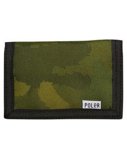 GREEN FURRY CAMO MENS ACCESSORIES POLER WALLETS - 712071GCO