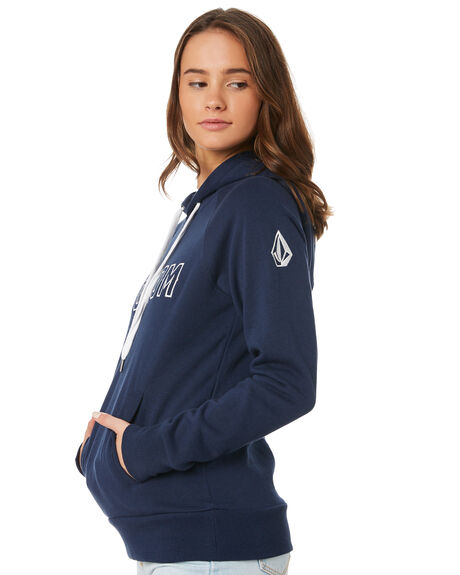 NAVY WOMENS CLOTHING VOLCOM JUMPERS - B3111884NVY