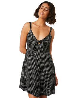 BLACK COMBO OUTLET WOMENS VOLCOM DRESSES - B1341819BLC