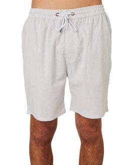 GREY WHITE STRIPE MENS CLOTHING RPM SHORTS - 8SMB02CGRYWH