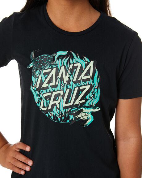 BLACK KIDS GIRLS SANTA CRUZ TOPS - SC-GTD0327BLK