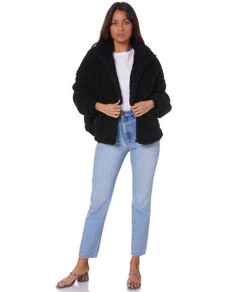 BLACK WOMENS CLOTHING SNDYS JACKETS - SFJ051BLK