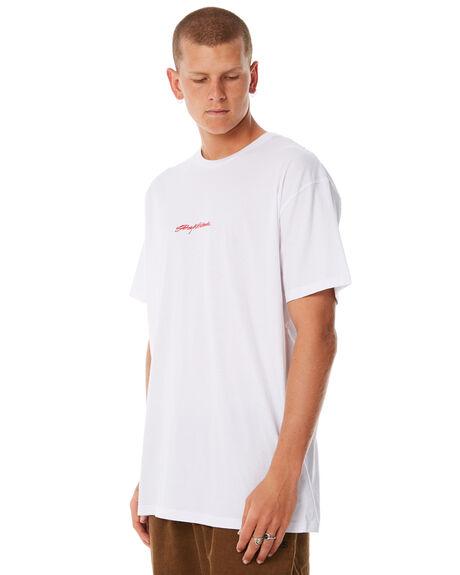 WHITE MENS CLOTHING STUSSY TEES - ST085000WHT