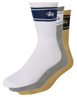 MULTI COLOURED MENS CLOTHING STUSSY SOCKS + UNDERWEAR - ST705014MULTI
