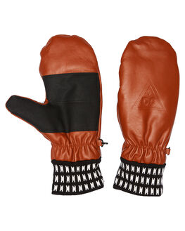 LEATHER BROWN BOARDSPORTS SNOW DC SHOES GLOVES - EDYHN03022CPL0