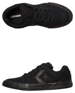 BLACK BLACK KIDS BOYS CONVERSE SKATE SHOES - 359786BKBK