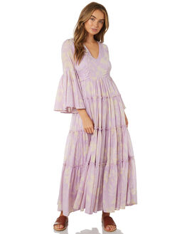 PURPLE COMBO WOMENS CLOTHING FREE PEOPLE DRESSES - OB902398-5003