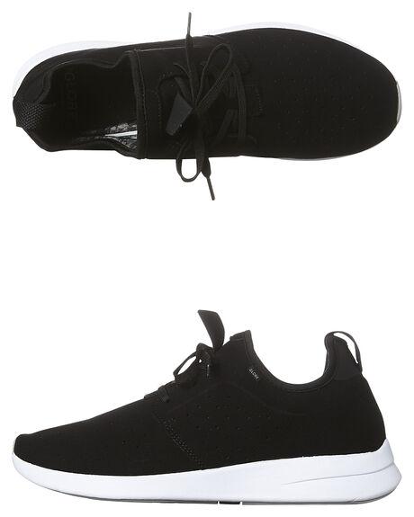 BLACK WHITE MENS FOOTWEAR GLOBE SNEAKERS - GBDART-10046