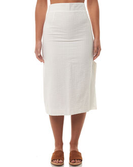 WHITE WOMENS CLOTHING ZULU AND ZEPHYR SKIRTS - ZZ1845WHT