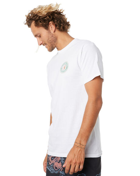 WHITE GREEN MENS CLOTHING BRIXTON TEES - 06519WHGRN