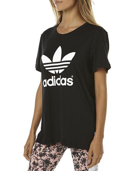 BLACK WOMENS CLOTHING ADIDAS ORIGINALS TEES - AJ8351BLK