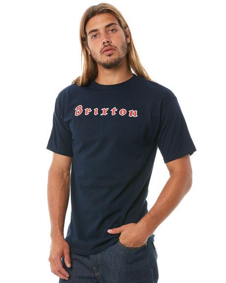 NAVY MENS CLOTHING BRIXTON TEES - 06870NAVY