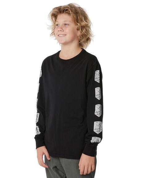 BLACK KIDS BOYS RUSTY TEES - TTB0579BLK