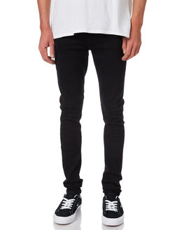 BLACK MENS CLOTHING DR DENIM JEANS - 1610109-101