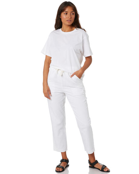 WHITE WOMENS CLOTHING NUDE LUCY TEES - NU23261WHT