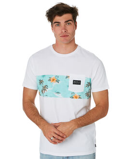 WHITE MENS CLOTHING RIP CURL TEES - CTETX21000
