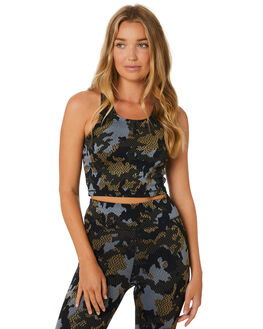 CAMO JACQUARD WOMENS CLOTHING THE UPSIDE ACTIVEWEAR - USW120075CAMJQ