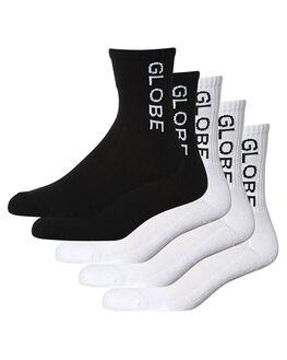 WHITE BLACK MENS CLOTHING GLOBE SOCKS + UNDERWEAR - GB71519025WHBK