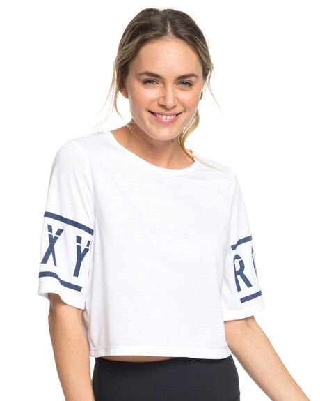 BRIGHT WHITE WOMENS CLOTHING ROXY TEES - ERJZT04461-WBB0