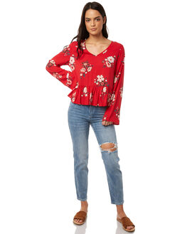 SENTENA PRINT WOMENS CLOTHING ALL ABOUT EVE FASHION TOPS - 6413057PRNT