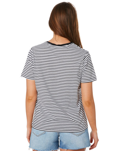 BLACK WHITE OUTLET WOMENS SWELL TEES - S8201009BKWHT