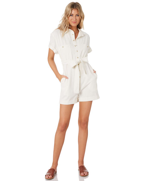 VINTAGE WHITE WOMENS CLOTHING ROLLAS PLAYSUITS + OVERALLS - 13271006