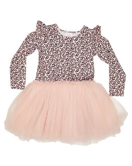LEOPARD KIDS GIRLS LITTLE HEARTS DRESSES + PLAYSUITS - AW20_LSFTTDLEO