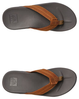 BROWN MENS FOOTWEAR REEF THONGS - A3FEZBRO