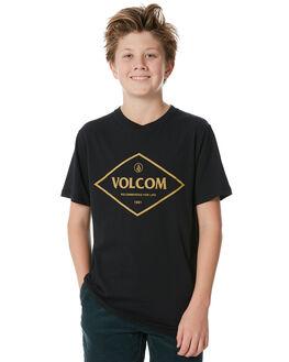 BLACK KIDS BOYS VOLCOM TEES - C5031873BLK