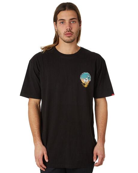 BLACK MENS CLOTHING VANS TEES - VNA3H72BLKBLK