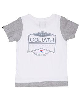 WHITE KIDS BOYS ST GOLIATH TOPS - 2832006WHT