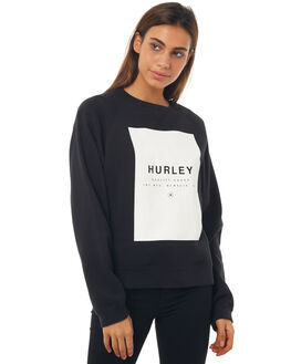 BLACK WOMENS CLOTHING HURLEY JUMPERS - AGFLROLLI00A