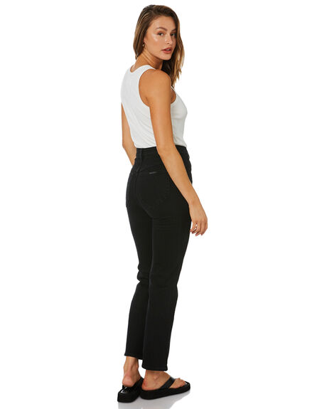 COMFORT JET BLACK WOMENS CLOTHING ROLLAS JEANS - 13946-3775