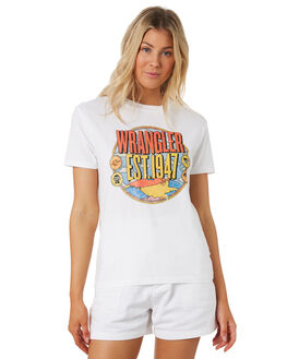 WHITE WOMENS CLOTHING WRANGLER TEES - W-951607-060
