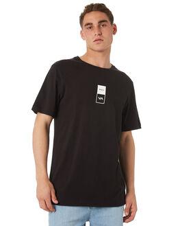 BLACK MENS CLOTHING RVCA TEES - R182056BLK