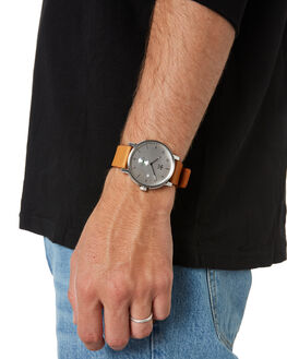 SILVER BLACK TAN MENS ACCESSORIES ADIDAS WATCHES - Z12-3039-00SLBKT