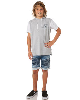 GREY MARLE KIDS BOYS ST GOLIATH TEES - 2421009GRM